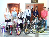 Bikes Donated to District