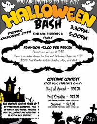 Halloween Bash for ACIC Students Planned