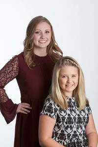 Allen County DYW Kaleigh Shaw and little sister Kaitlyn Rather