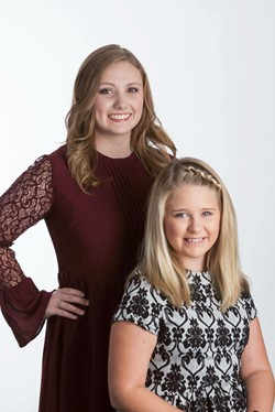 Sixth Grader Serving as Little Sister in State DYW Program.