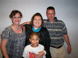 My best friend and our family at graduation.