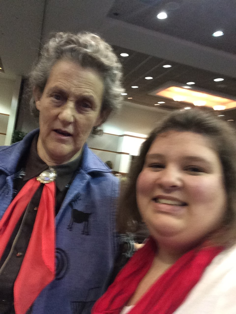 A Selfie with Temple Grandin