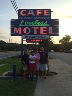 Me, Mom, Dad, and Son (Ethan) at daddy's first trip to Loveless Cafe