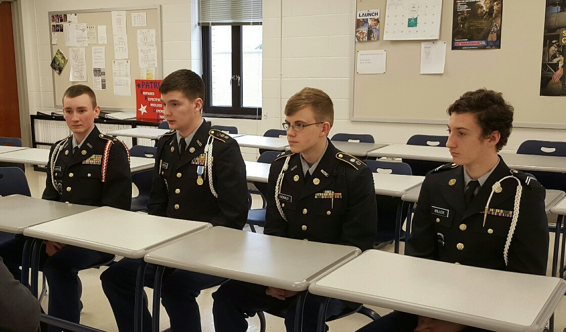 JROTC cadets talk with media about Washington trip.