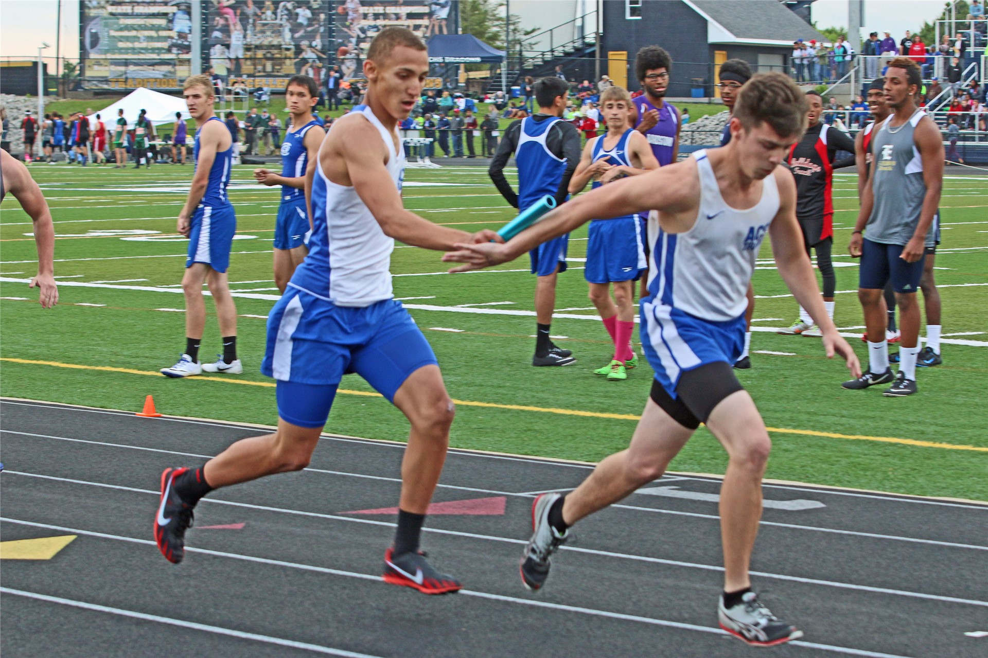 Jacob Lightfoot with handoff to Brian Huff.