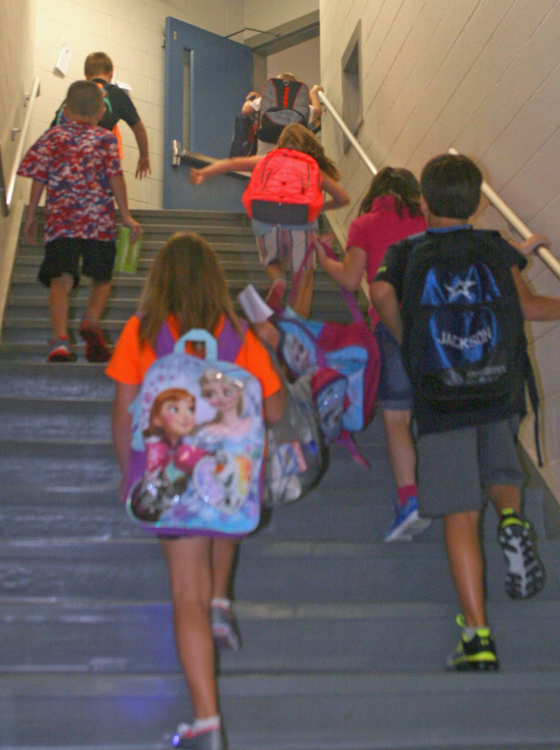 ACPC students step to their classes to start the new school year.