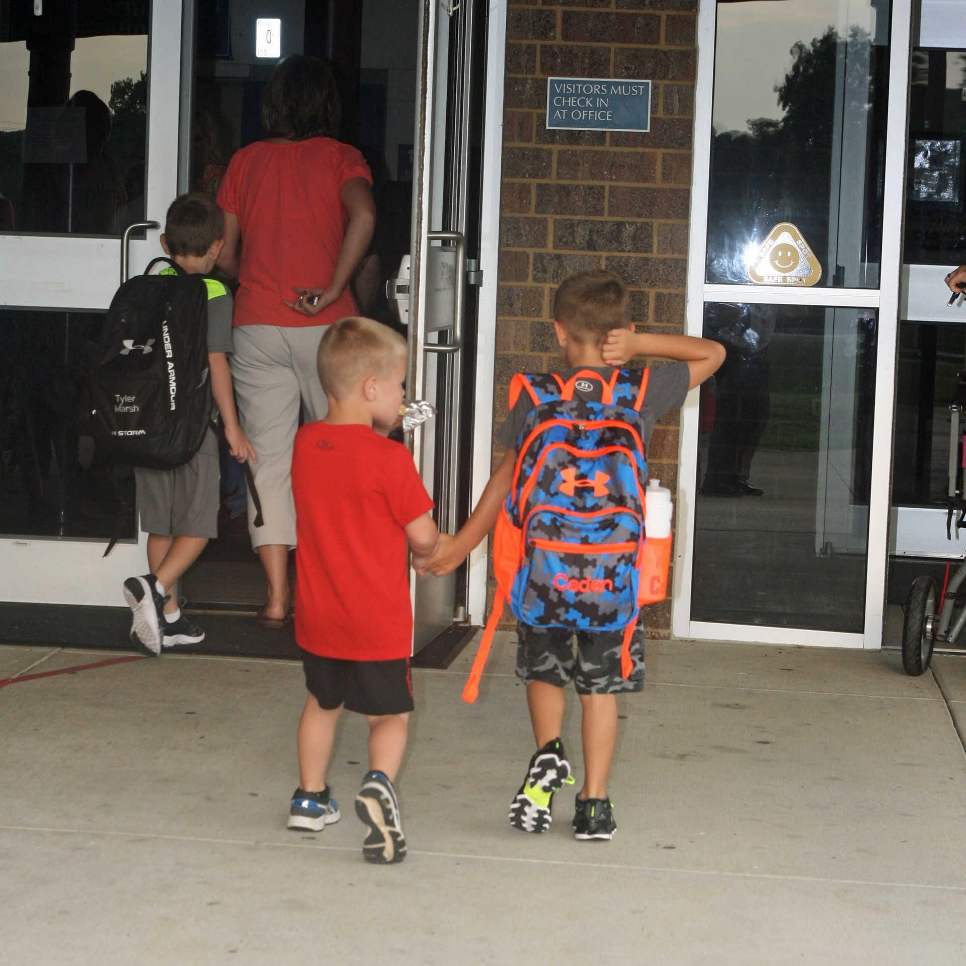 Off to school to start the 2015-16 school year.