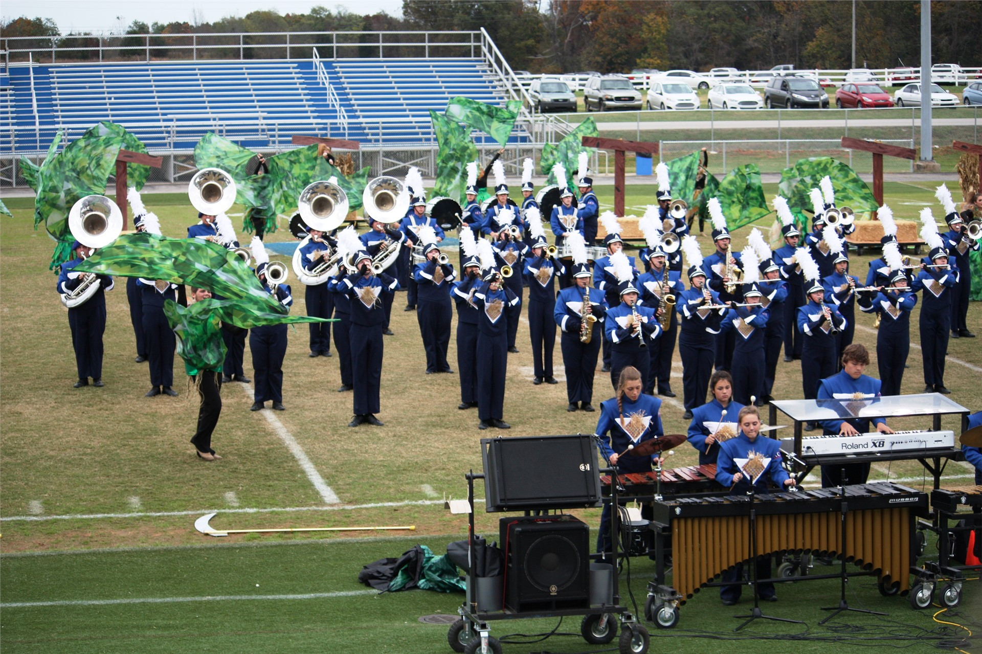 Patriot Band places fifth in KMEA state competition.