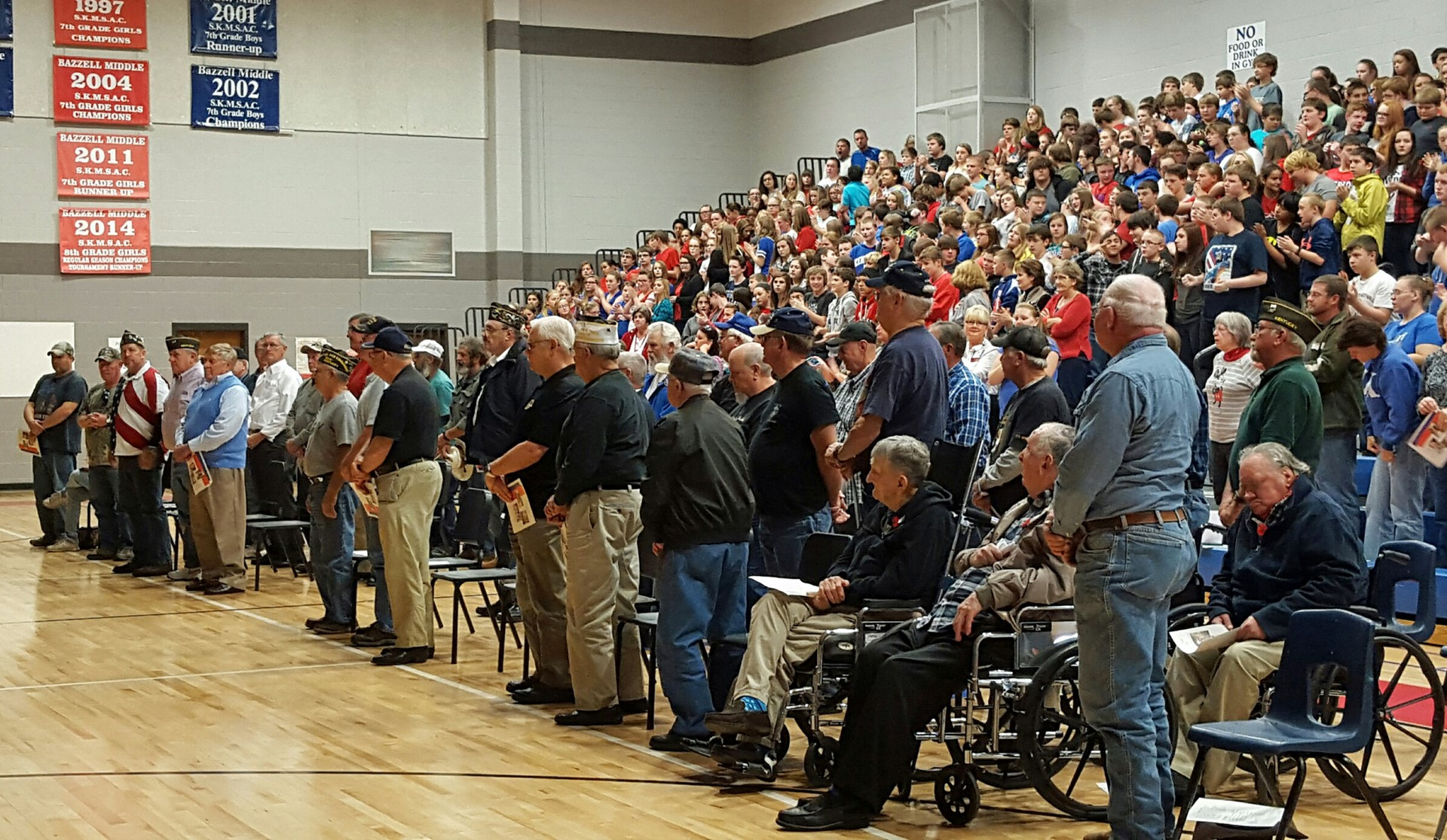 Bazzell students honor veterans on Veterans Day 2015.