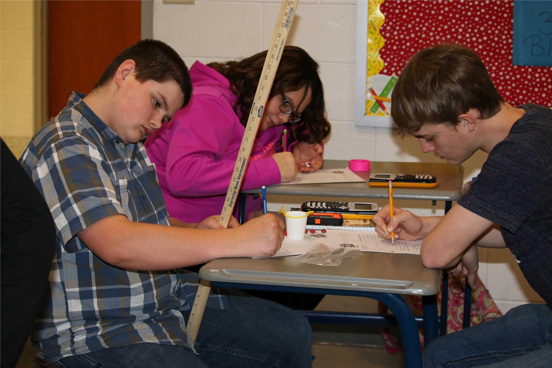 ACSH math students engage in learning.