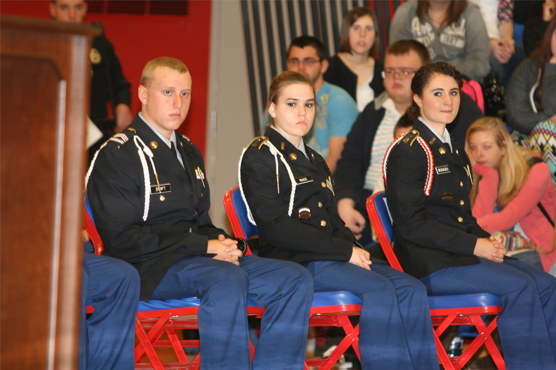 JROTC cadets at Veterans Day service.