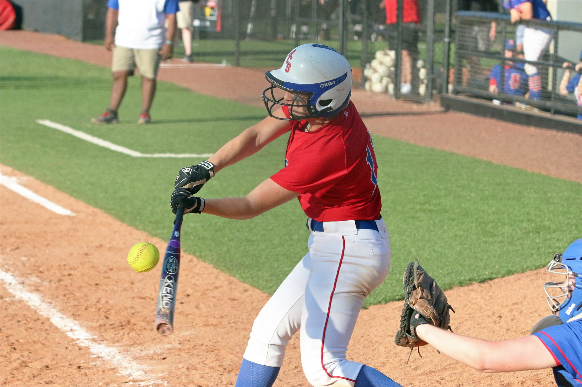 Taylor Stamps with a swing in regional tournament.