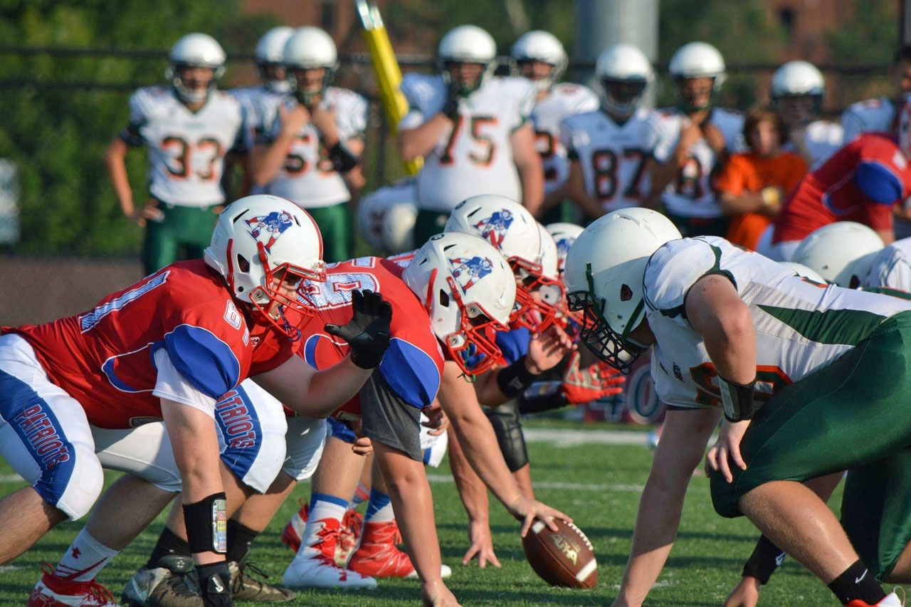 ACS offensive line gets set to fire.