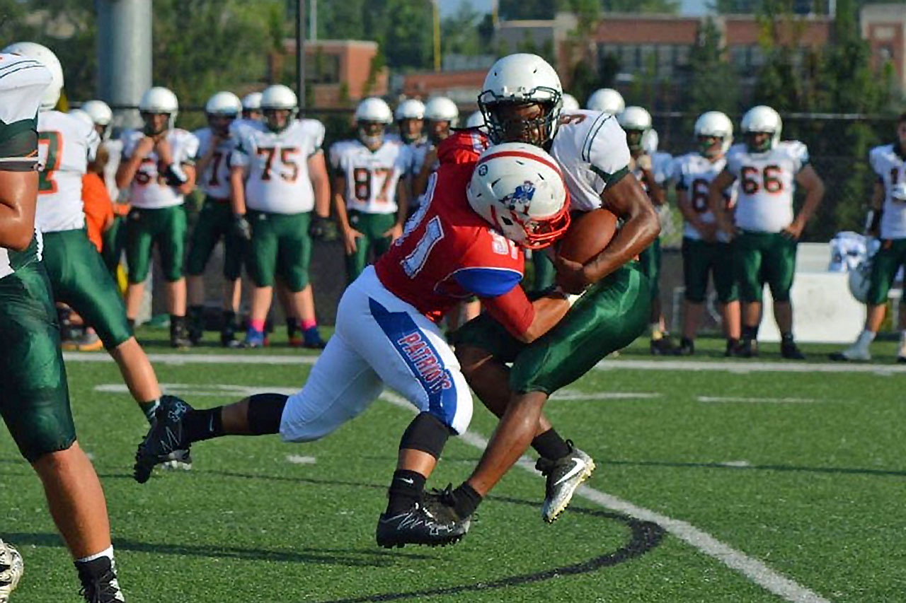 Solo tackle in Hart County game.