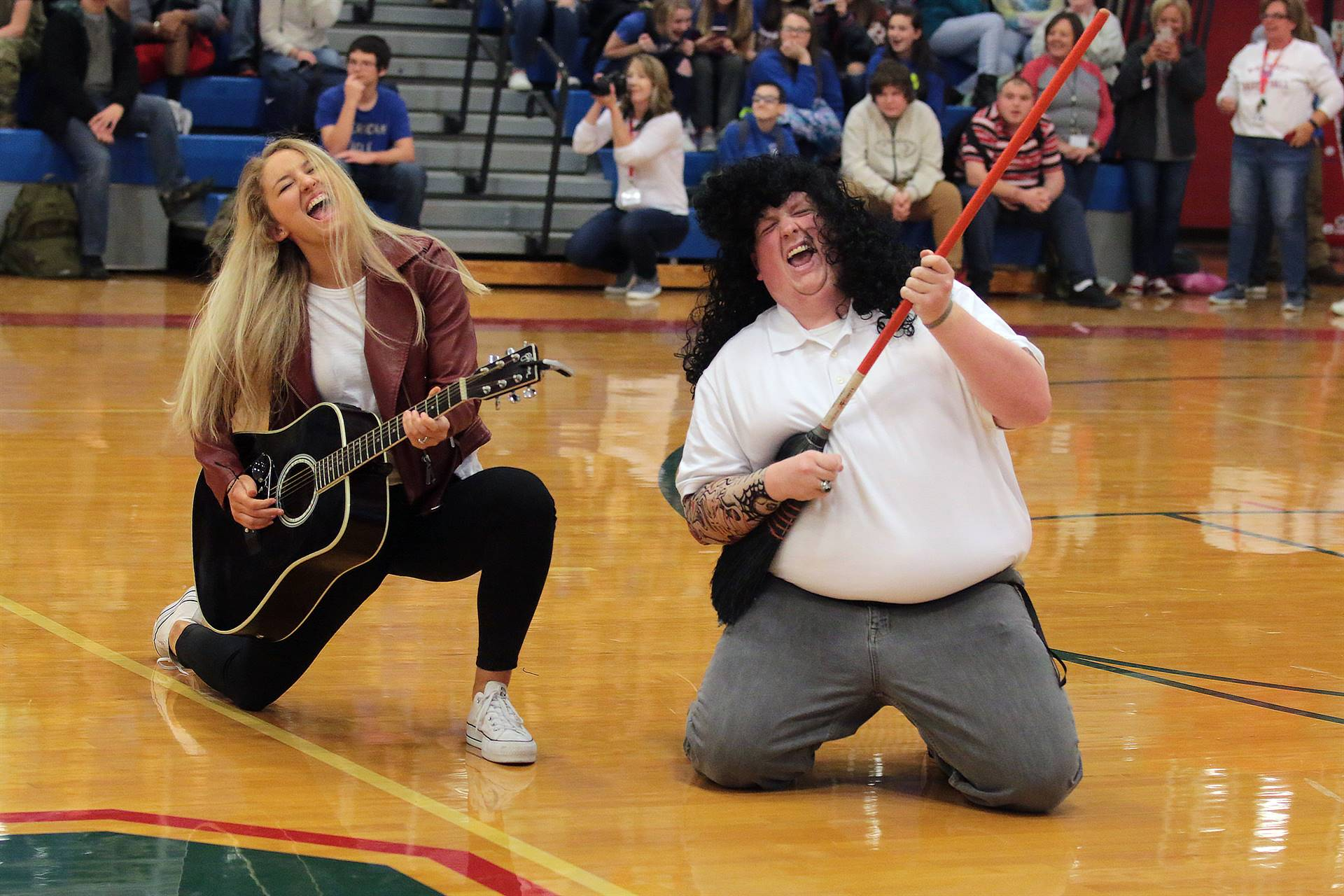 Teacher Lip Singing