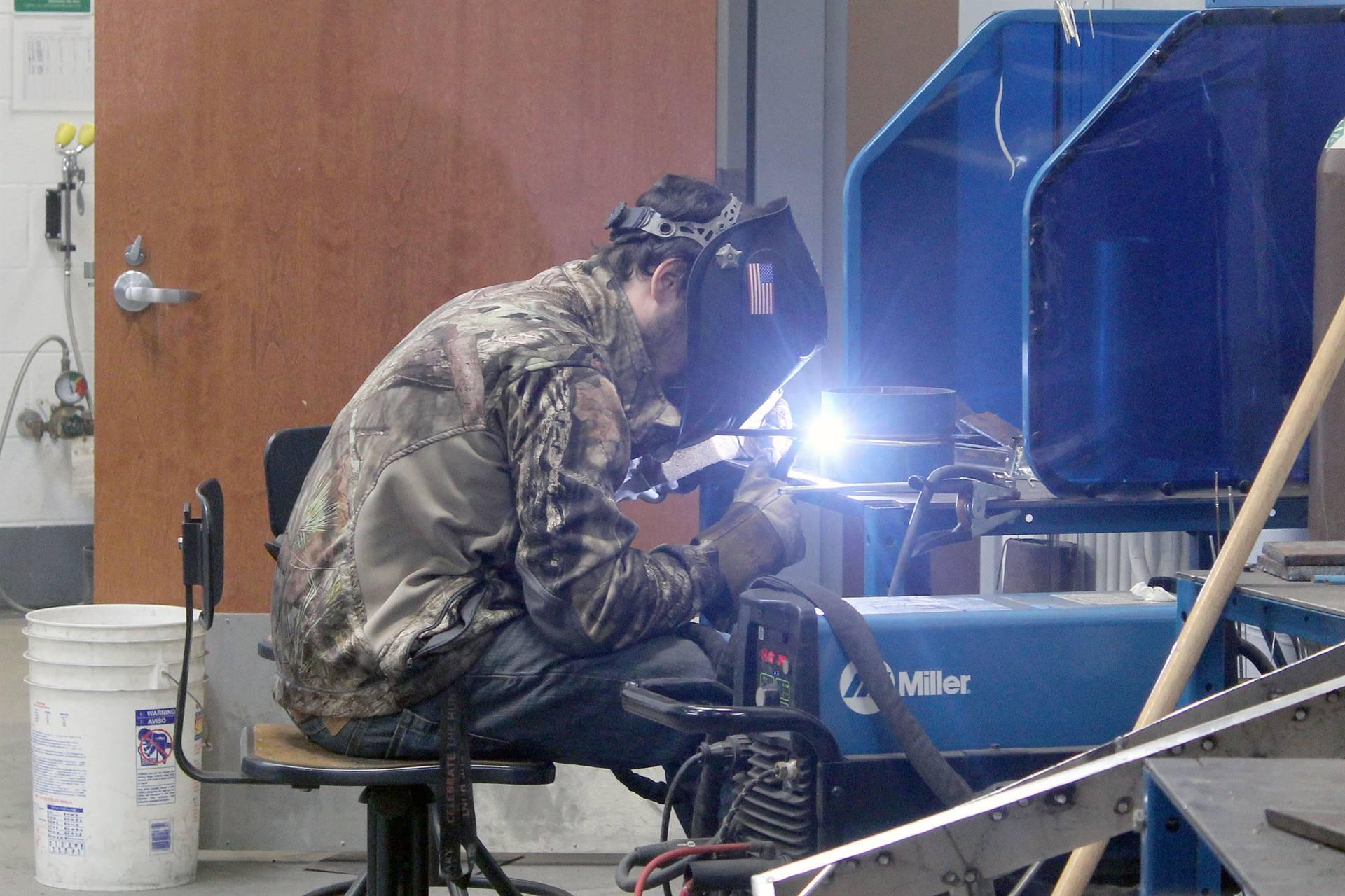 ACCTC welding student
