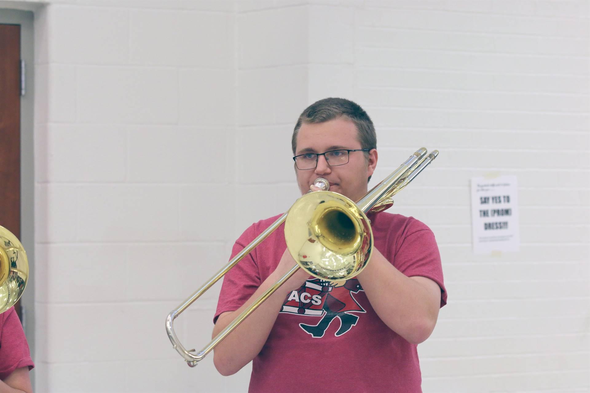 Pep Band Student