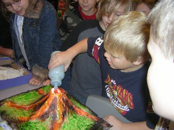 We learned a lot about carbon dioxide gas and erupting volcanoes!